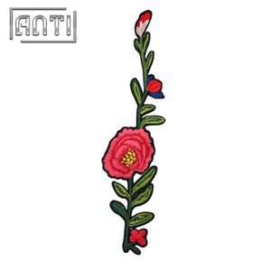 Durable Embroidered Patches Flower Embroidery Patch for Coats Rose Patch
