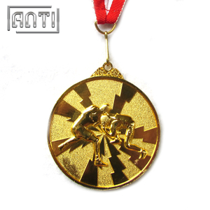 Hot Selling 3D Boxing Award Wrestling Medal Gold Medal Custom Sport Medal