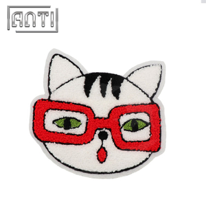 Animal Cat Embroidered Patches Towel Embroidery Patch for Coats Chenille Patches