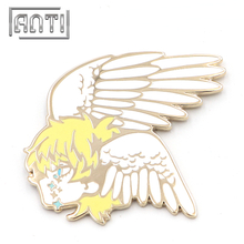 Cartoon Badge Enamel Pins Angel Lapel Pins Evil Pins