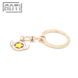 Custom Sailor Moon Logo Keychain Painted Keychain with Ring
