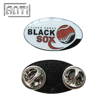 Newly Design Button Badge Baseball Enamel Black Sox Lapel Pins