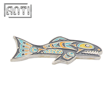 High Quality Fog Nickle Badge Novel Fish Lapel Pins Brooch