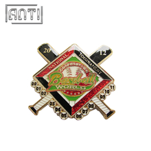 Creative Custom Metal Enamel Baseball Pin Badges with Butterfly Clutch