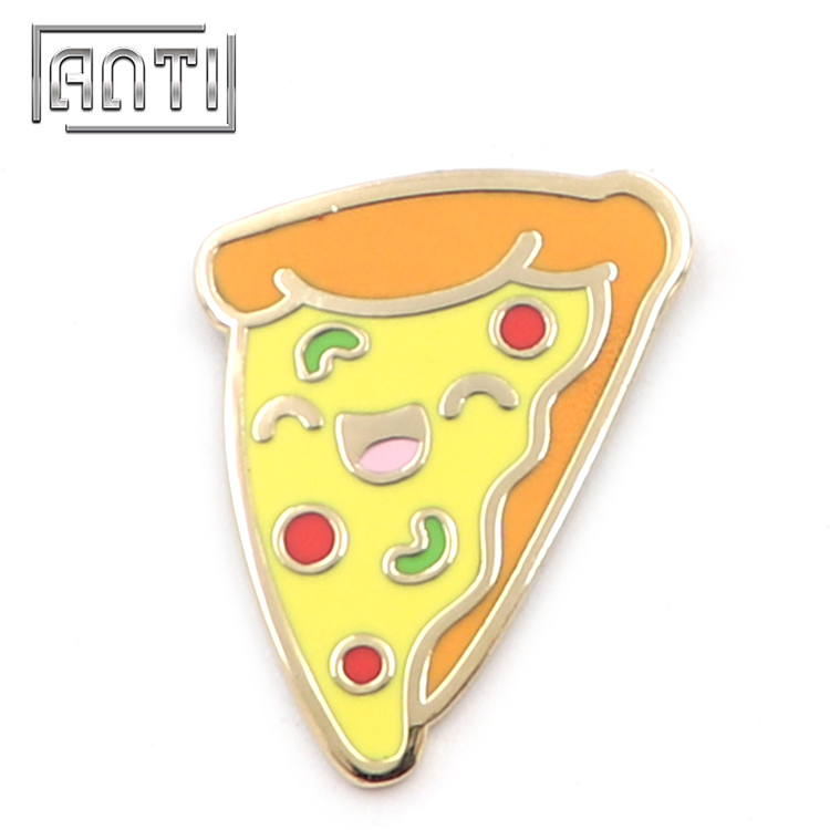Cartoon Pizza Badge Enamel Pins Bulk Food Lapel Pin
