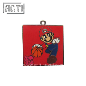 red cool game character hard enamel metal badge