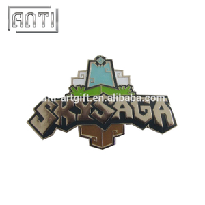 game cool bule peak zinc alloy soft enamel badge
