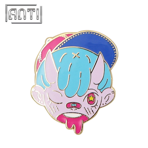 Cartoon Badge Pin Gold-plated Lapel Pin Enamel