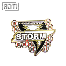 Baseball Club Metal Pin Badge Storm Logo Badge