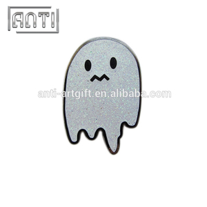 cute paillette white zinc alloy soft enamel pin