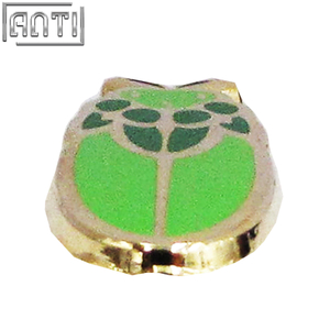 Wholesale custom cool dark green and light green round cartoon bug hard enamel zinc alloy lapel pin