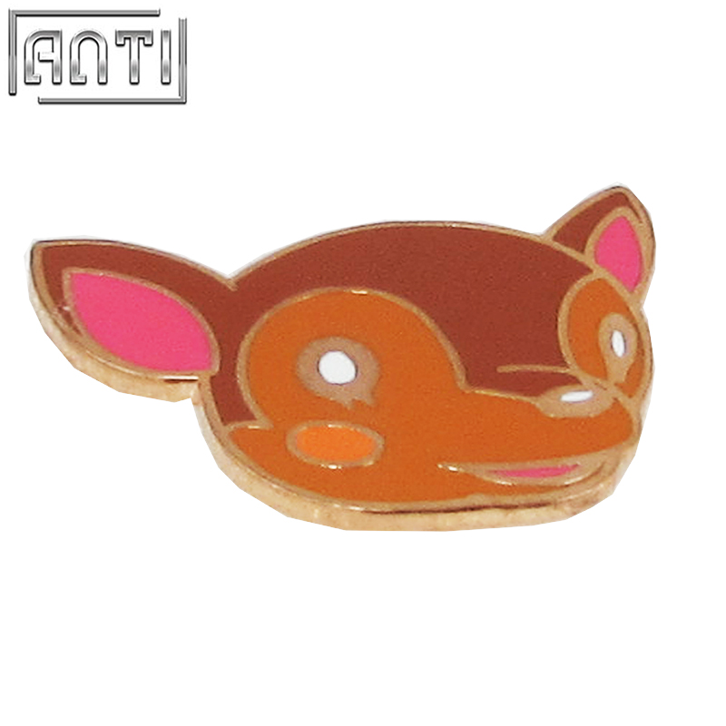 Wholesale Colour Cartoon Pattern Cute Animal Elk Christmas Gift Hard Enamel Zinc Alloy Lapel Pin