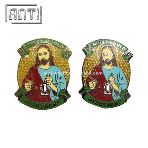 yellow and green figure zinc alloy hard enamel pin