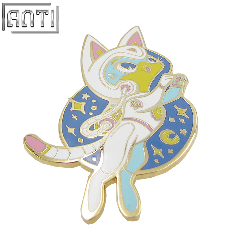 Wholesale collection Cartoon Cute pattern blue small rabbit hard enamel zinc alloy Lapel Pin
