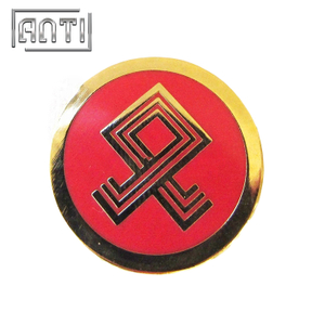 red roundness hard enamel metal badge
