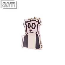 PVC texture cool black and white panda stickers